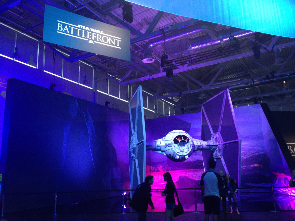 Gamescom 2015 Pressekonferenz EA Tie Fighter
