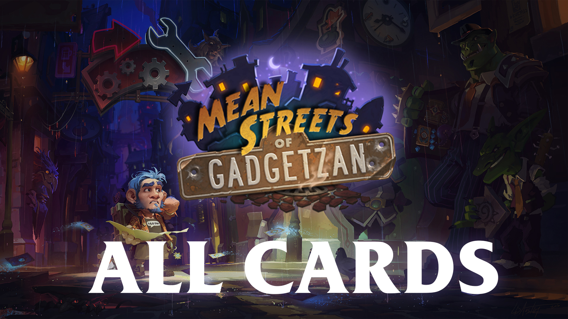 Hearthstone Mean Streets Of Gadgetzan All Cards Lansyn