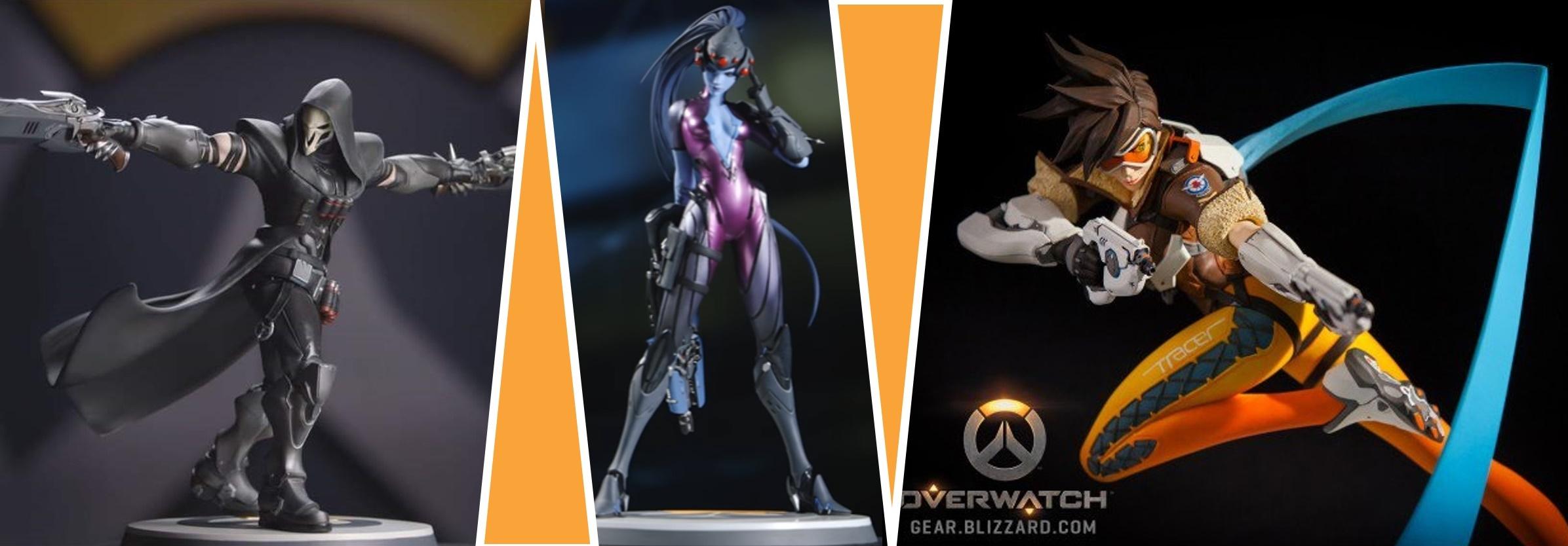 Reaper, Widowmaker und Tracer sind die ersten drei Figuren für Zuhause. Quelle: Einzelbilder: Gear.Bizzard.com