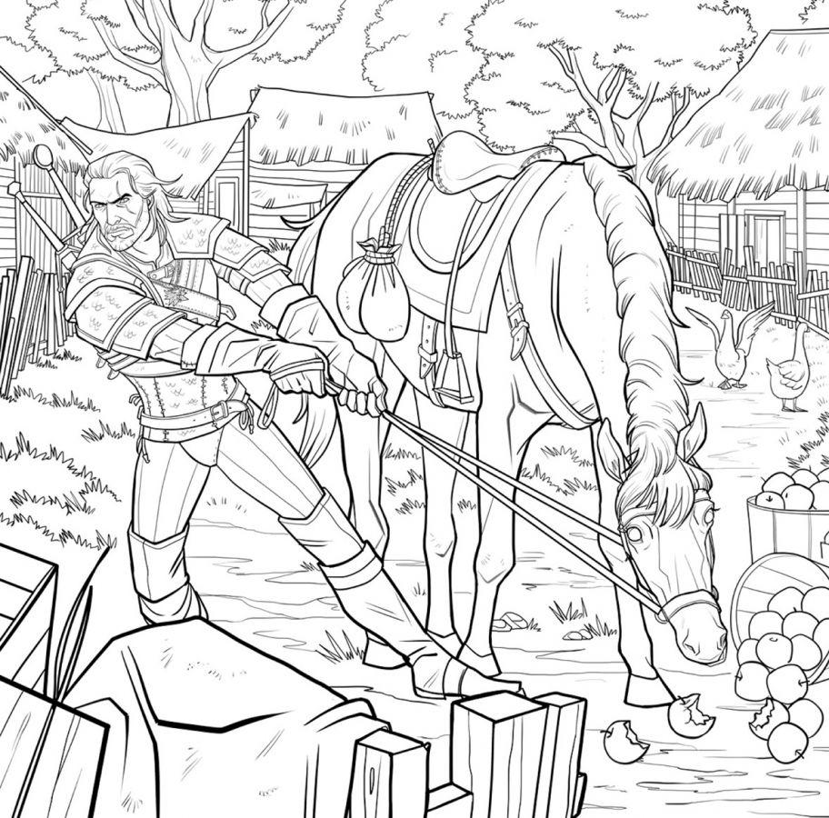 The Witcher III - Ein Malbuch für Erwachsene