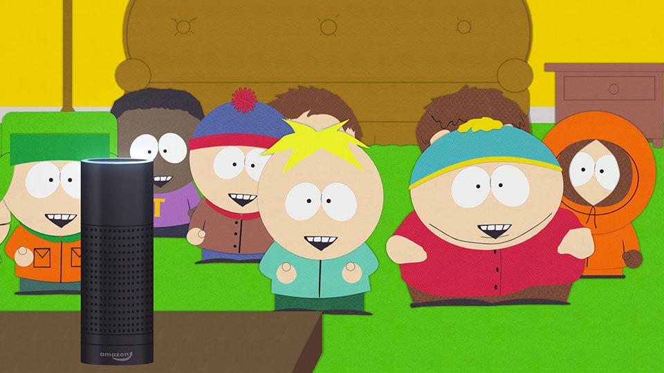 Nur Spielerei von Kindern und dumm gelaufen oder stellen digitale Assistenten doch eine Gefahr dar? (Quelle: South Park)