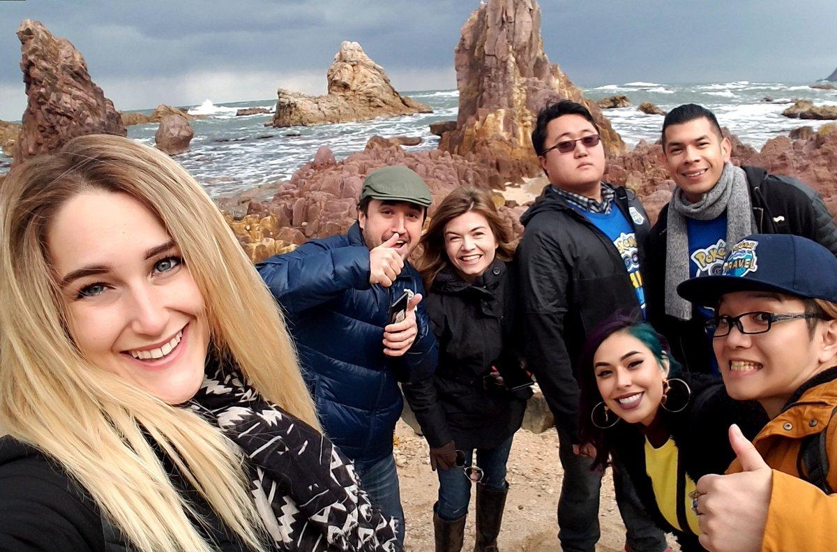 Rachel Quirico postete bereits am Samstag ein Selfie im Namen von Pokémon Go Travel an einem Strand, bei dem es zu einem Test-Ex-Raid gekommen ist. (Quelle: Rachel Quirico)