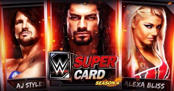 Lade dir ab sofort das neue WWE Supercard Game (Season 4) für Android oder iOS kostenlos herunter. (Quelle: 2K)