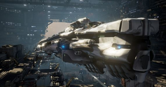 Dreadnought hat ein riesiges Update bekommen. Darunter auch einen helleren Hangar. (Quelle: Dreadnought)
