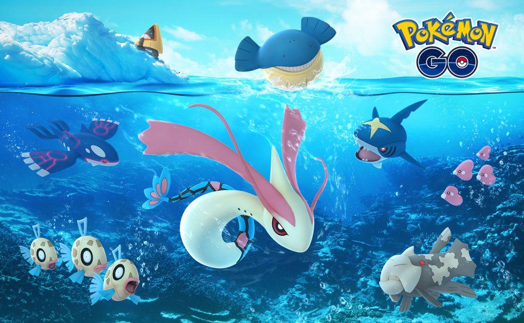 Beim Weihnachtsevent von Pokémon Go warten vor allem Eis- und Wasserpokémon aus den Videospielen Rubin und Saphir auf auch. (Quelle: Niantic)