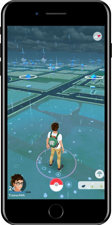 Regen Quelle: pokemongo.nianticlabs.com