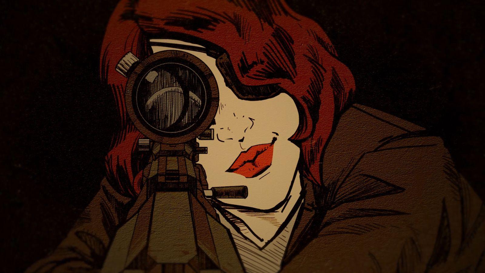 Agentin Jessica Vigilant alias Agentin Stiller Tod schwor sich nach dem Tod ihres Mannes Rache. Dafür lauert sie heimlich, still und leise drei Männern des Regimes auf, um sie in den ewigen Schlaf zu wiegen. (Quelle: Bethesda)