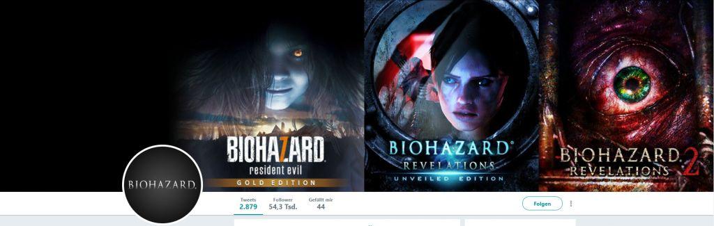 Der Header des japanischen Twitter Accounts von Biohazard lässt Raum für Spekulationen. (Quelle: Biohazard)