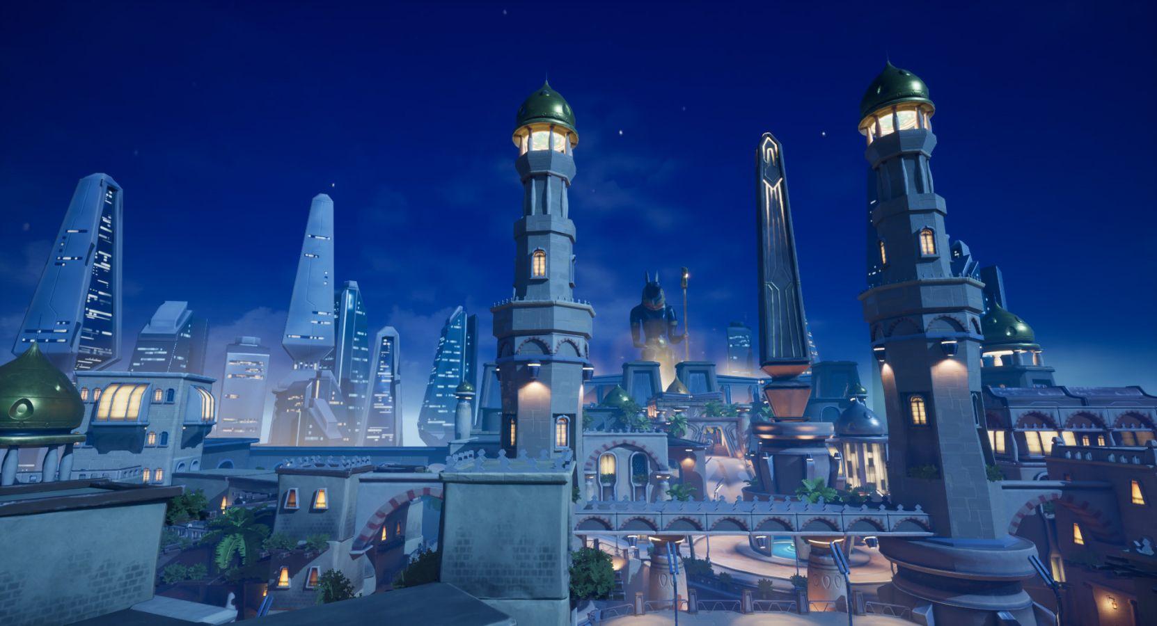 Die von Overwatch inspirierte Kairo Map bringt das antike Kairo in eine futuristische Welt. (Quelle: Joshua Llorente)