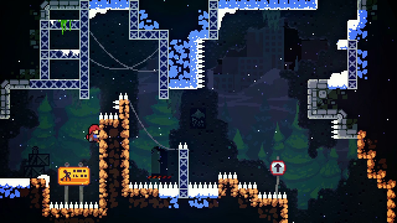 Hüpft mit Madeline durch über 300 Level, um den Gipfel des Bergs zu erreichen. (Quelle: Nintendo Direct, Youtube)