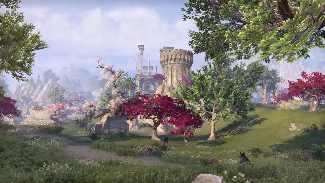 Prächtige Gärten mit bisher unbekannten Kreaturen warten auf die Spieler. (Quelle: Youtube | Bethesda Softworks)