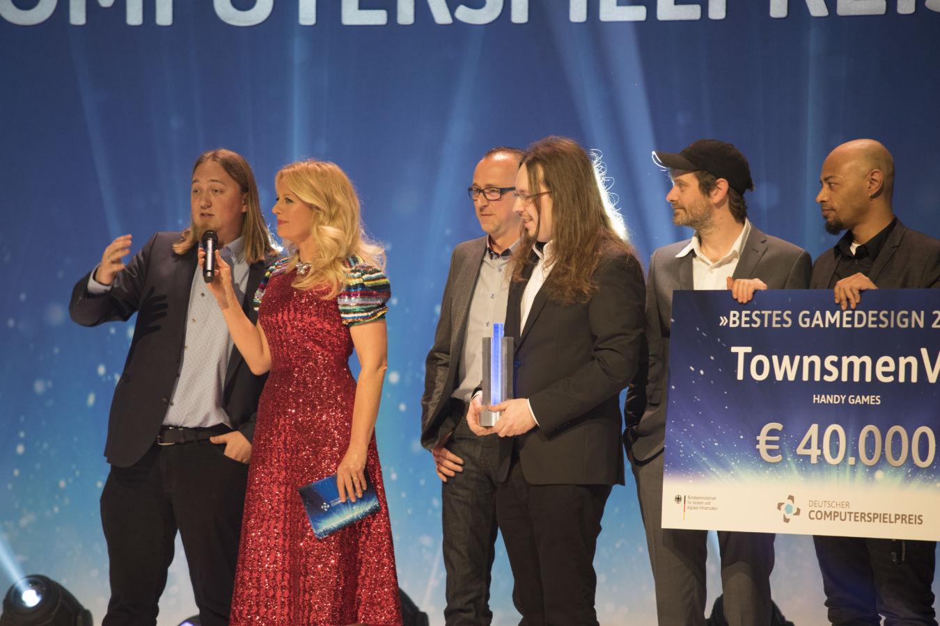 Townsmen VR erhielt den Preis für das beste Gamedesign.