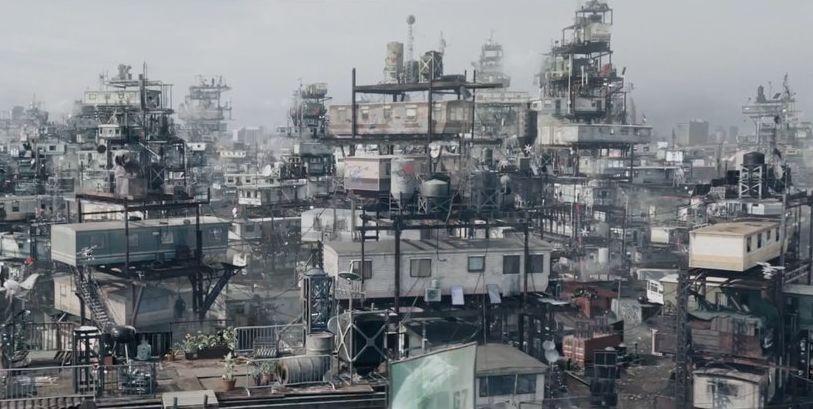Das Jahr 2045. Erschöpfte Ressourcen führten zu einer weltwirtschaftlichen Krise. Die Folge: Slums, Hunger, Perspektivlosigkeit. Quelle: Kino.de