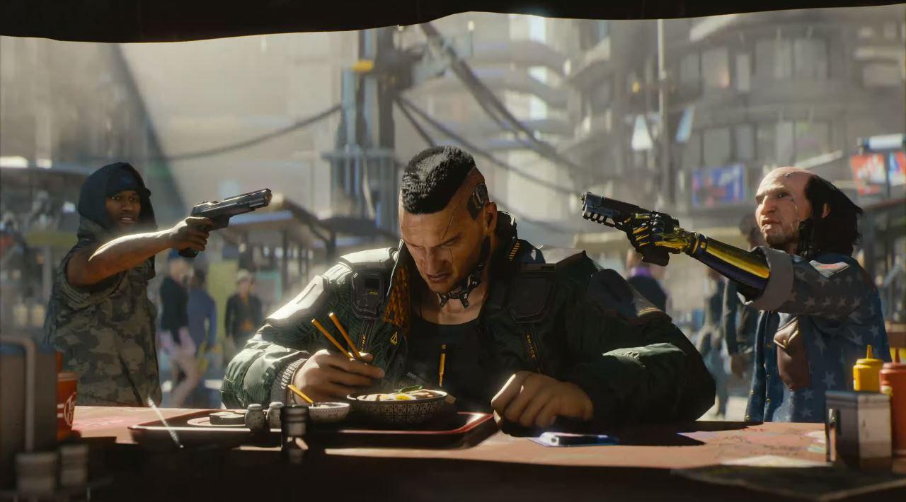Lange war es still um Cyberpunk 2077. Auf der E3 2018 veröffentlichte Microsoft einen neuen Trailer. (Quelle: E3 Briefing Microsoft)