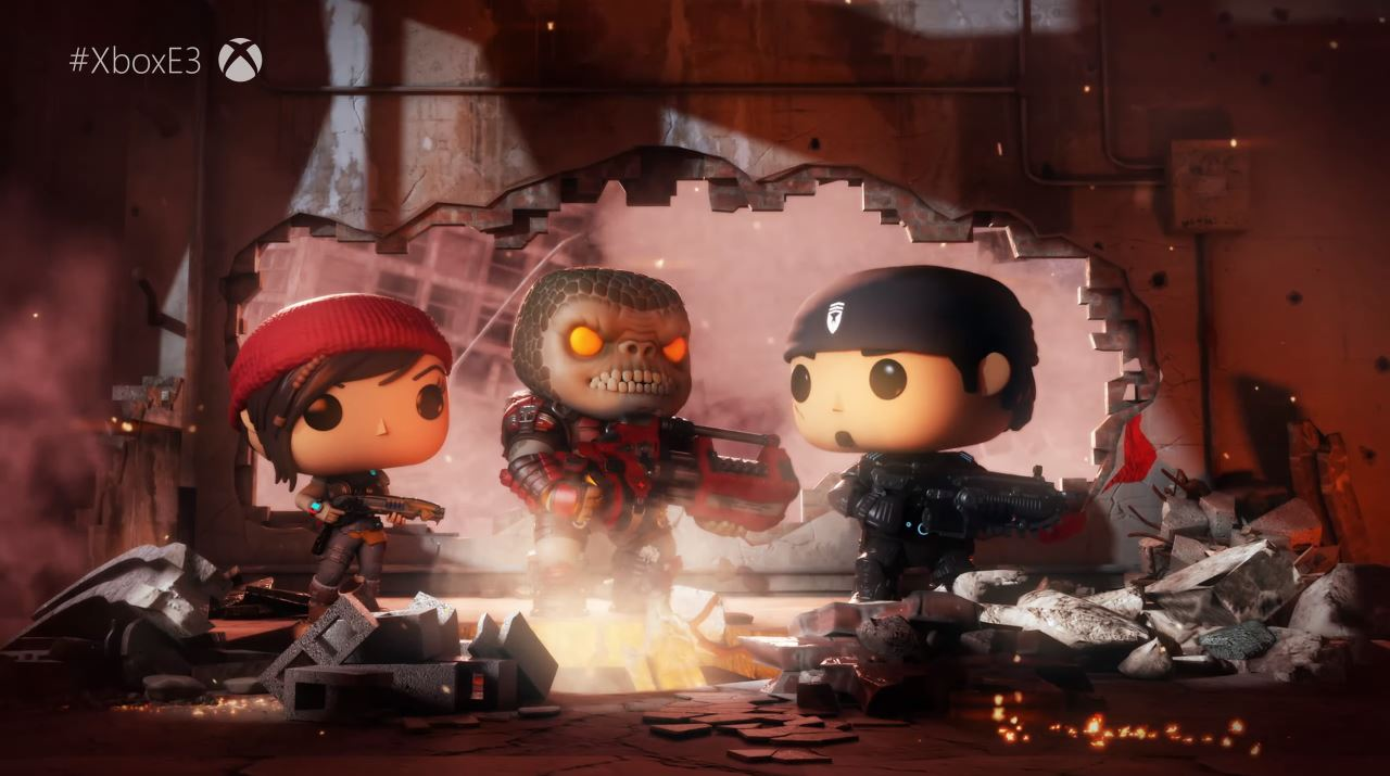 Neben Gears 5 kündigt Microsoft auch ein Gears of War POP und Gears of War Tactics an. (Quelle: E3 Briefing Microsoft)