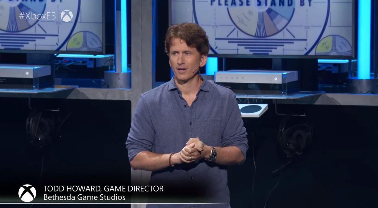 Todd Howard ist einer der Gäste auf der Microsoft E3 Pressekonferenz. (Quelle: E3 Briefing Microsoft)